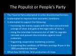 the populist or people s party