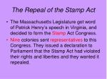 the repeal of the stamp act
