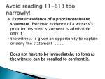 avoid reading 11 613 too narrowly