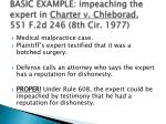 basic example impeaching the expert in charter v chleborad 551 f 2d 246 8th cir 1977