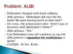 problem alibi