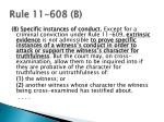 rule 11 608 b