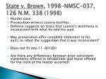 state v brown 1998 nmsc 037 126 n m 338 1998