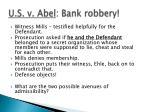 u s v abel bank robbery
