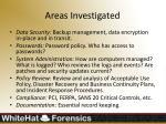 areas investigated1