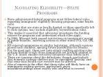 navigating eligibility state programs