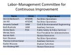 labor management committee for continuous improvement