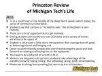 princeton review of michigan tech s life2