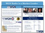 wgn radio is a market leader