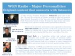 wgn radio major personalities original content that connects with listeners