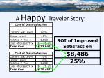 a happy traveler story
