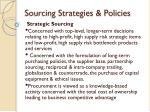sourcing strategies policies1