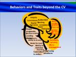 behaviors and traits beyond the cv
