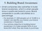5 building brand awareness