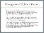 emergence of political parties1