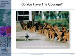 do you have the courage