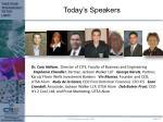 today s speakers