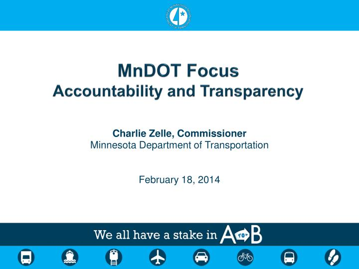 mndot focus accountability and transparency n.