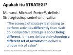 apakah itu strategi