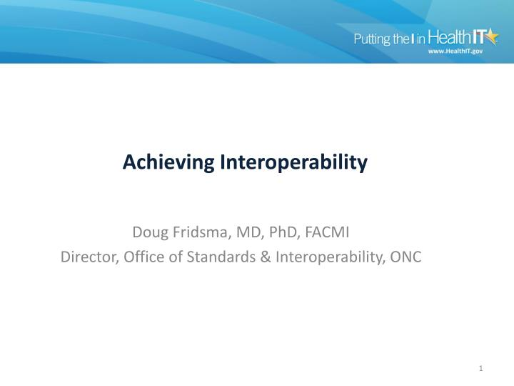 achieving interoperability n.