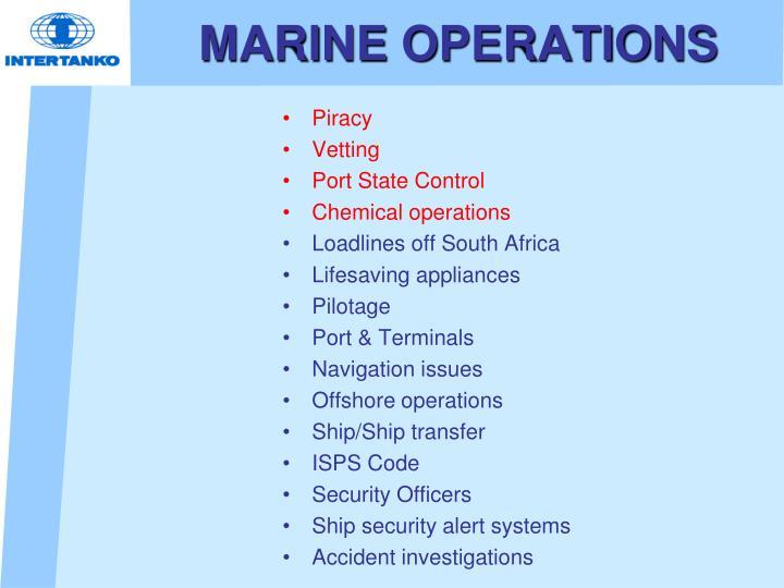 MARINE OPERATIONS