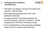 achieving service excellence cost effectively