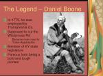 the legend daniel boone