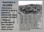 korematsu v us 1944