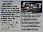 leandro vs nc 1997