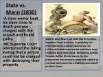 state vs mann 1830