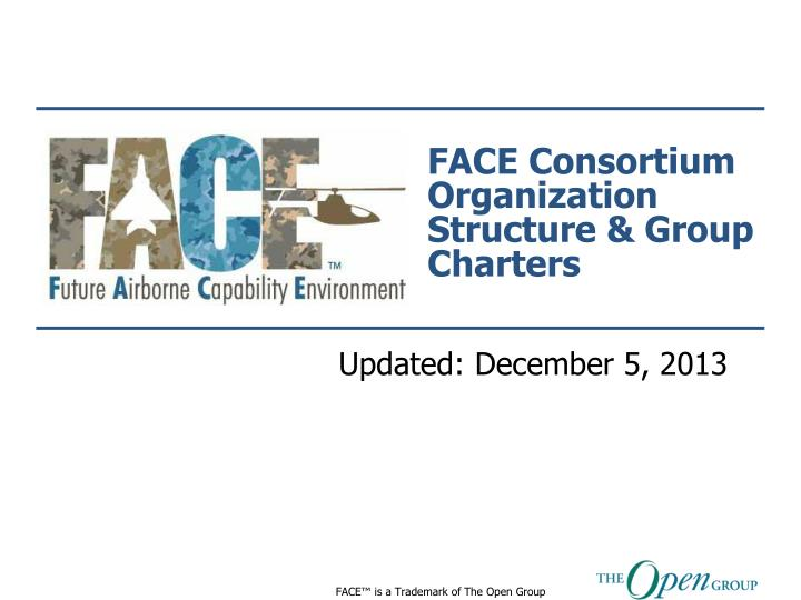 face consortium organization structure group charters n.