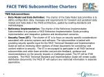 face twg subcommittee charters