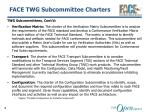 face twg subcommittee charters1