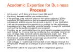 academic expertise for business process