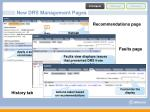 new drs management pages