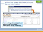 new storage views tab adds insight into storage infrastructure