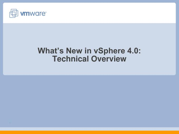 what s new in vsphere 4 0 technical overview n.