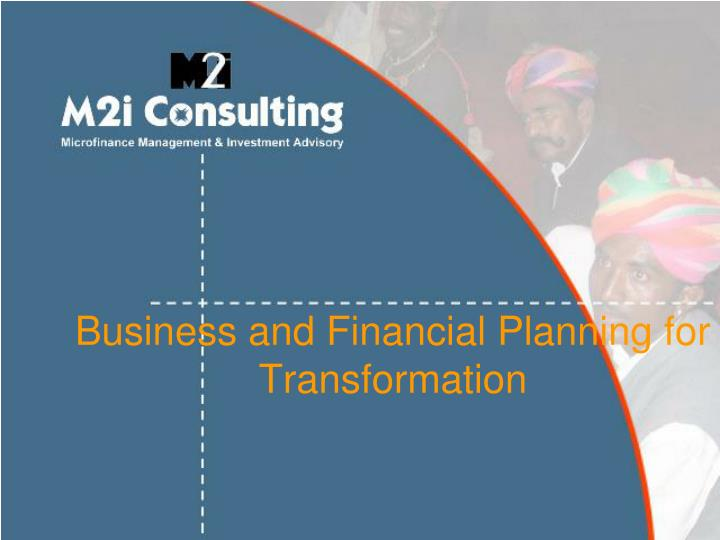 business and financial planning for transformation n.