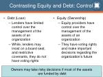 contrasting equity and debt control