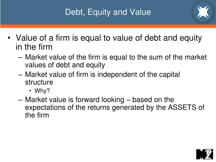 fin571 intrinsic value of debt and equity instruments Fin 571 study play stakeholder  and these funds are raised in capital markets—financial markets where equity and debt instruments with maturities greater than one year are traded  ideally, economists would like financial markets to price securities at their true (intrinsic) value a security's true value is the present value (the.