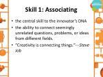 skill 1 associating