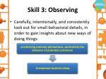 skill 3 observing