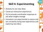 skill 4 experimenting