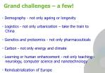 grand challenges a few