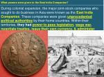 what powers were given to the east india companies