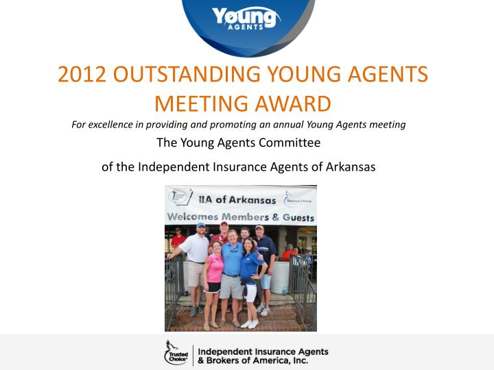 2012 outstanding young agents meeting award n.