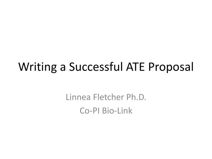writing a successful ate proposal n.