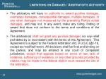 limitations on damages arbitrator s authority