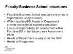 faculty business school structures