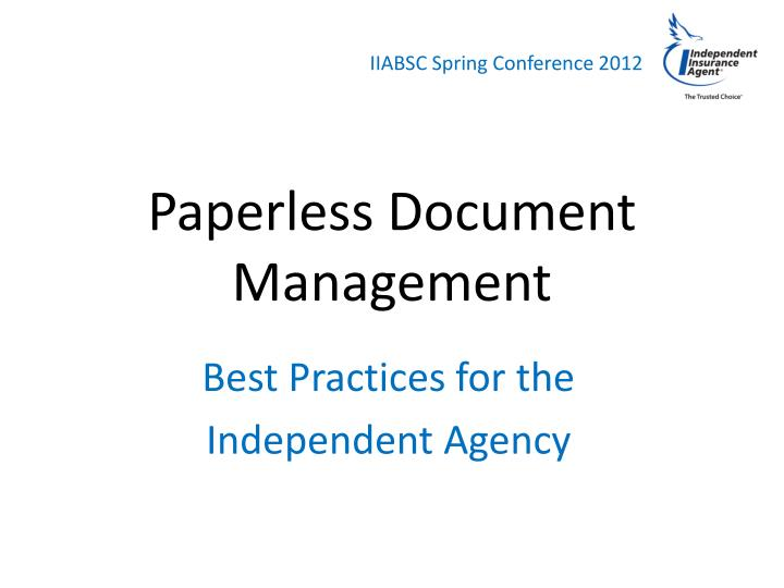 paperless document management n.